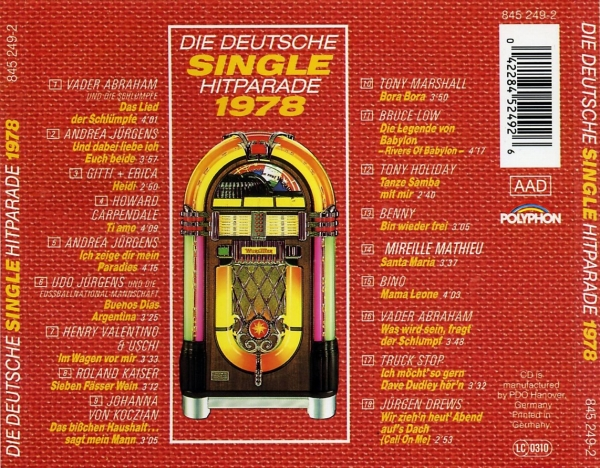 die deutsche single hitparade 1978