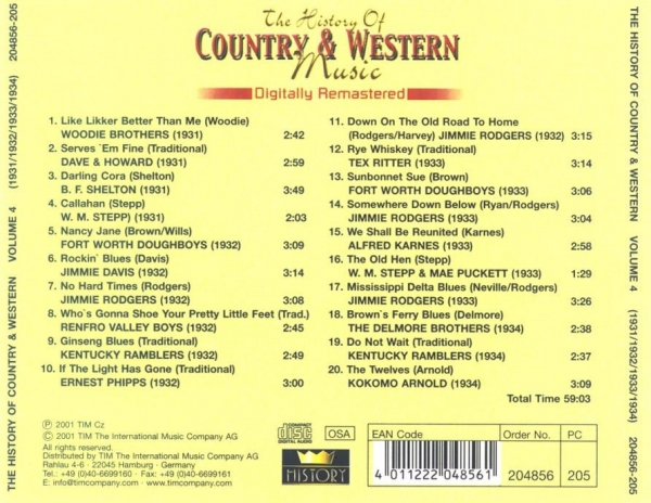 the origin and history of country music To learn about the origins and history of country music click here for an explanation on where it all started and who were some of the original artists.