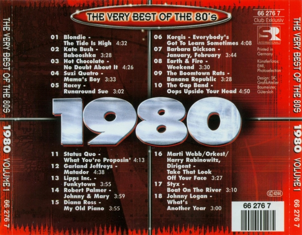 The Very Best Of The 80's - samplerinfos.de