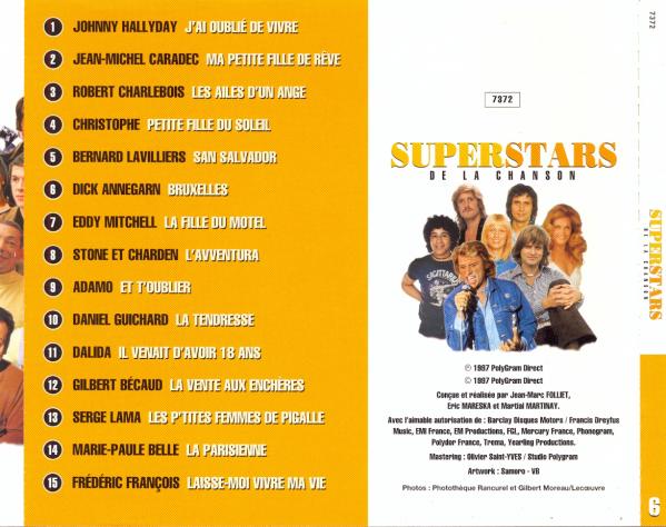 913f11e974aca2 Superstars De La Chanson - samplerinfos.de